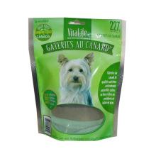 Sac de nourriture pour chien de fond plat / sac de nourriture pour animaux de compagnie en aluminium / sac en plastique
