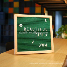 Black felt letter board 10x10 with wooden frame