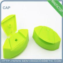 green injection plastic disc top cap for custom bottle