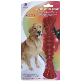 "Percell 7,5 ""Nylon Dog Chew Spiral Bone Rasberry Duft"