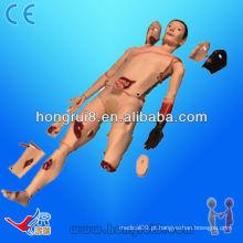 Simulador de traumas de corpo inteiro avançado ISO, manequim de tratamento de pacientes