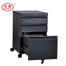 Mobile pedestal steel filing cabinet modern metal storage cabinet