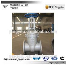 Válvula de portão de haste de elevação para água Válvula de portão de compressão de disco único através da válvula de conduta