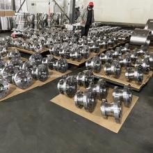 Fechamento da válvula de esfera de munhão A105N 16-300L