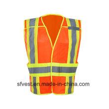 Gilet de sécurité réfléchissant pour vêtements de travail haute visibilité