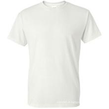 100% algodão promoção em torno do pescoço t-shirt branco