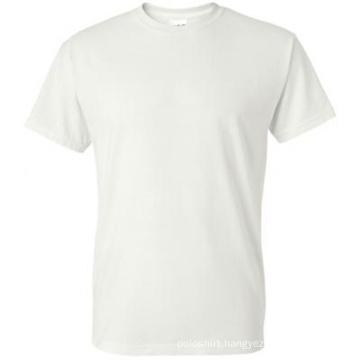 100% Cotton Promotion Round Neck White T-Shirt