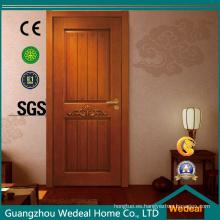 Puerta de chapa de madera natural para hotel (WDHO58)