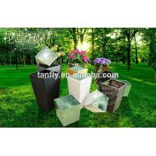 Новый современный Открытый декора цветочный горшок / ротанга цветочный горшок уличная мебель TF-9610