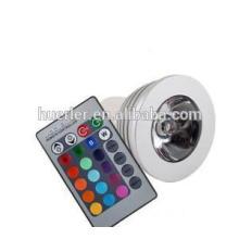 christmas light home decoration 110v e27 3w led rgb spotlight