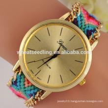8 colors new design hot sale fabric geneva watch