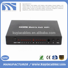 4 in 2 out 4*2 HDMI Matrix with remote controller converter