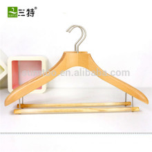 Fashionable luxurious wooden clothes hanger