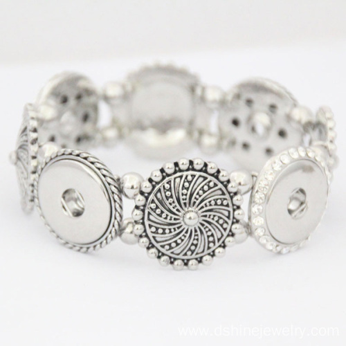 Sunflower Noosa Button Bracelet DIY Snap Noosa Bracelets