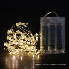 Cadena de luz LED de alambre de cobre para decoración navideña, en forma de estrella, impermeable, con marca CE RoHS