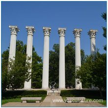 White Marble Roman Column For Home Decoration