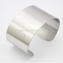 Unisex Wide Edelstahl Uni Cuff Armband Blank