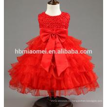 Высокое качество новорожденных девочек Принцесса платье для крестин платья детские для новорожденных день рождения Крещение