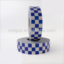 Ruban réfléchissant bleu et blanc à 3 rangées