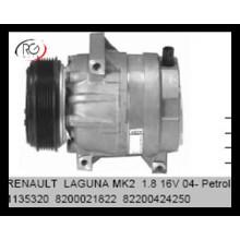 Компрессор кондиционера кондиционера воздуха 12В рефрижерации автоматический AC для запасных частей воздуха 8200021822 82200424250 Renault Laguna Mk2 1.8