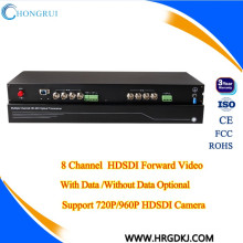 Com Video Audio Data 1080P 8 canais HDSDI Video Converter