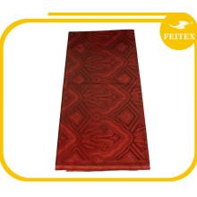 Vente chaude Rouge Couleur Stock Tissu 5 Mètres Africain Bazin Broderie Robe Designer Tissu Haute Qualité Achats En Ligne