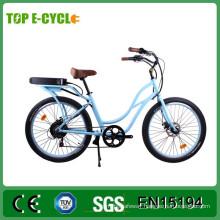 TOP/OEM 26' 48V 500W CE Ladies Beach Cruiser Electric Bike/Cheap City Electric Bicycle