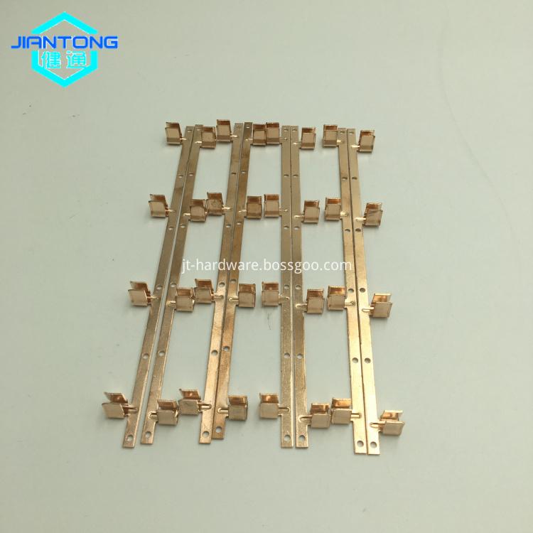 custom precision progressive die copper small electronic stampings