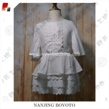 summer girls new design blank white dress