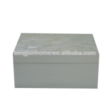 Set of 2 Mother of pearl decorative boxes, living room decor box