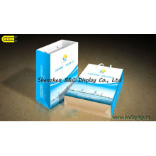 Sacs à main en papier revêtu, boite d'emballage (B & C-I032)