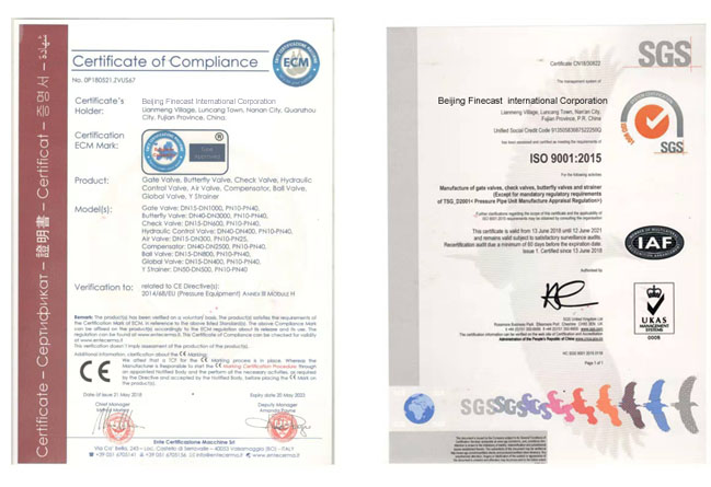 Gate Valve Certificated