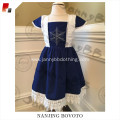 JannyBB embroidery blue baby smocked dress