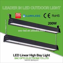 O CE RoHS aprovou a iluminação alta linear da baía do diodo emissor de luz 200w com o motorista bom do HLG do meio