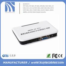 1080P Audio VGA vers HDMI HD HDTV Adaptateur de boîte de conversion vidéo pour PC Portable DVD