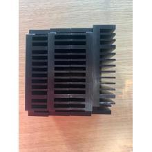 Disipador de calor de extrusión de aluminio anodizado negro