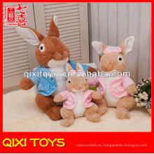 Juguete barato del conejo de peluche del felpa del juguete del conejito de encargo del felpa