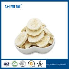 Congelar chips de plátano de frutas secas