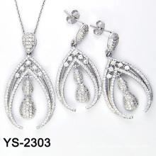 La joyería de Ziconia de la manera fijó la plata 925 (YS-2303, YS-2304, YS-2311, YS-2312, YS-2320, YS-2321)