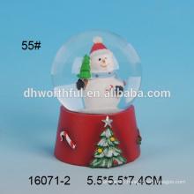 Custom made resin snowman water globe
