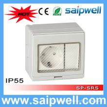 Commutateur étanche de salle de bains de style allemand IP55 Saipwell High Quality