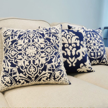Rope Embroidery Cushion Cover Home Decoration Cotton