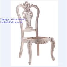 marco de silla de madera sin terminar marco de madera maciza italiana Marco de silla de madera de estilo clásico