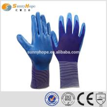 Sunnyhope Größe 9 Sicherheit Arbeitsgummi beschichtete Handschuhe