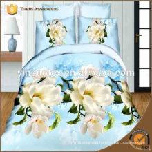 Hot Sale ! 2016 Africa 100% microfiber bedding set 3d Rose Flower Print Bedding sheet wholesale