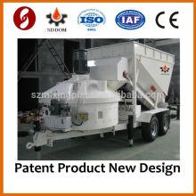 2014 QUENTE CE MB1200 mini máquina de fabrico de betão móvel 10-16m3 / h fábrica de mistura pré-moldada