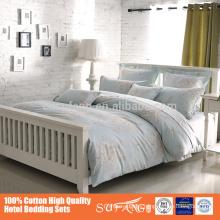 wholesale plain design 100% cotton comfortable soft luxury bedding set duvet cover for america