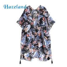 Long dress floral sarong kaftan beach cover up