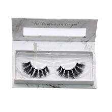 7D53 Hitomi custom lash box wholesale false eyelashes  paper eyelash packaging 3d real mink eyelash