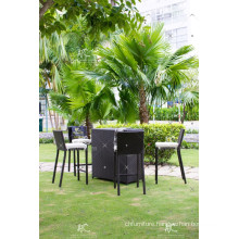 RABR-097 High Quality Poly PE Rattan Outdoor Furniture High Bar set and table for relaxing